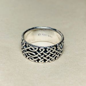 Sterling Silver Wide Band Celtic Ring
